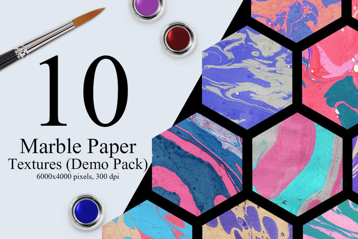 10 Free Marble Ink Paper Textures