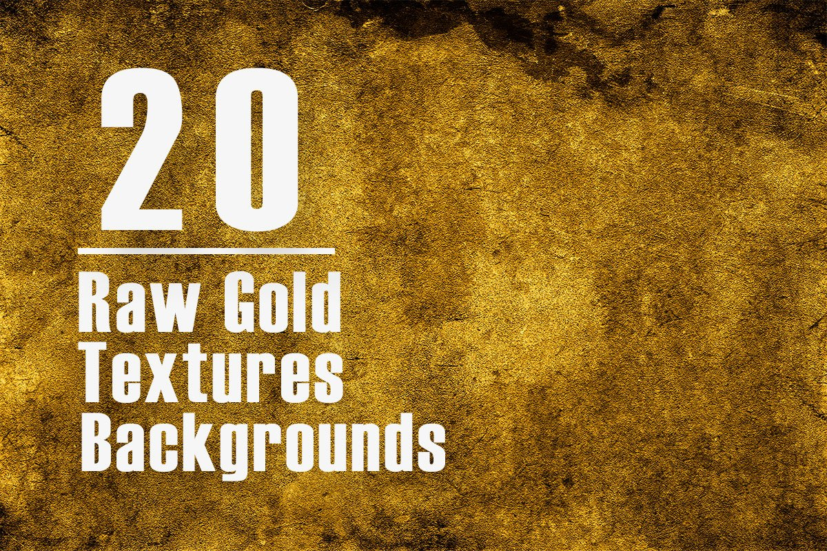20 Raw Gold Textures Backgrounds