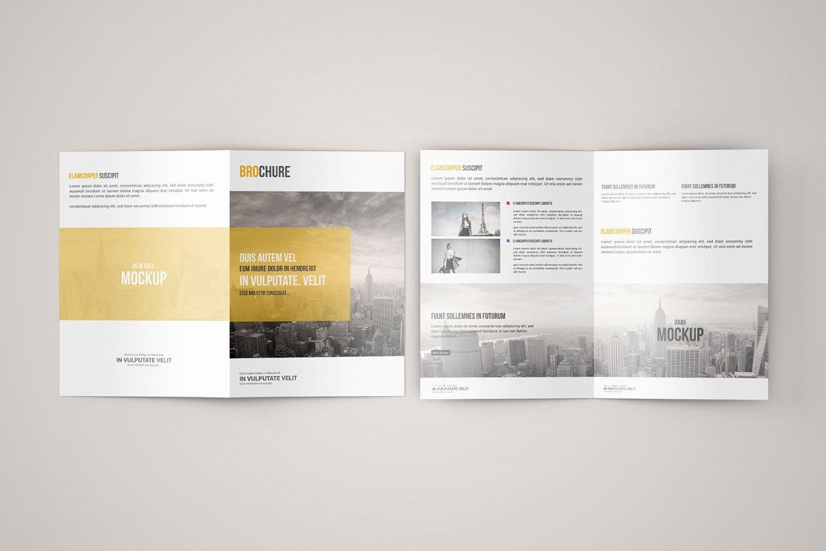 Free A5 Bi Fold Brochure Mockup