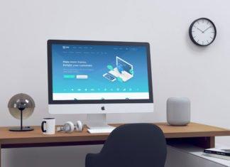 Free iMac Realistic Mockup