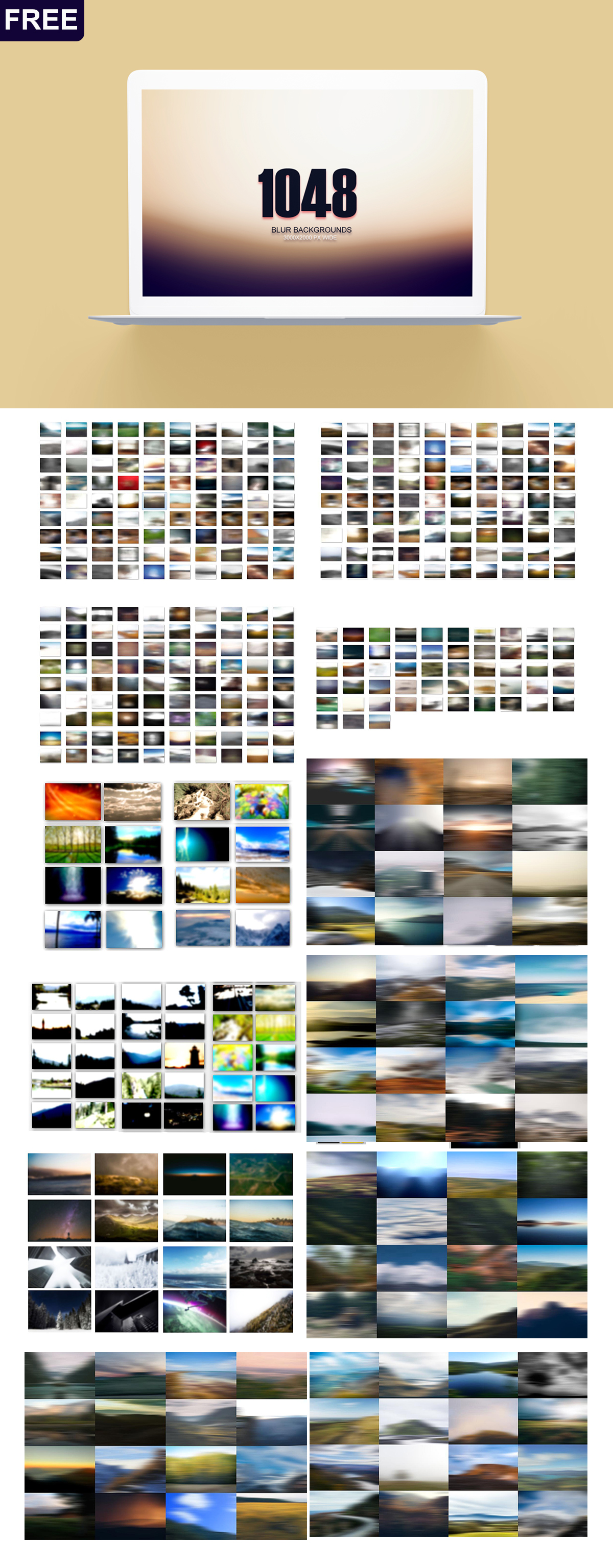 1048 Free Blur Backgrounds Pack