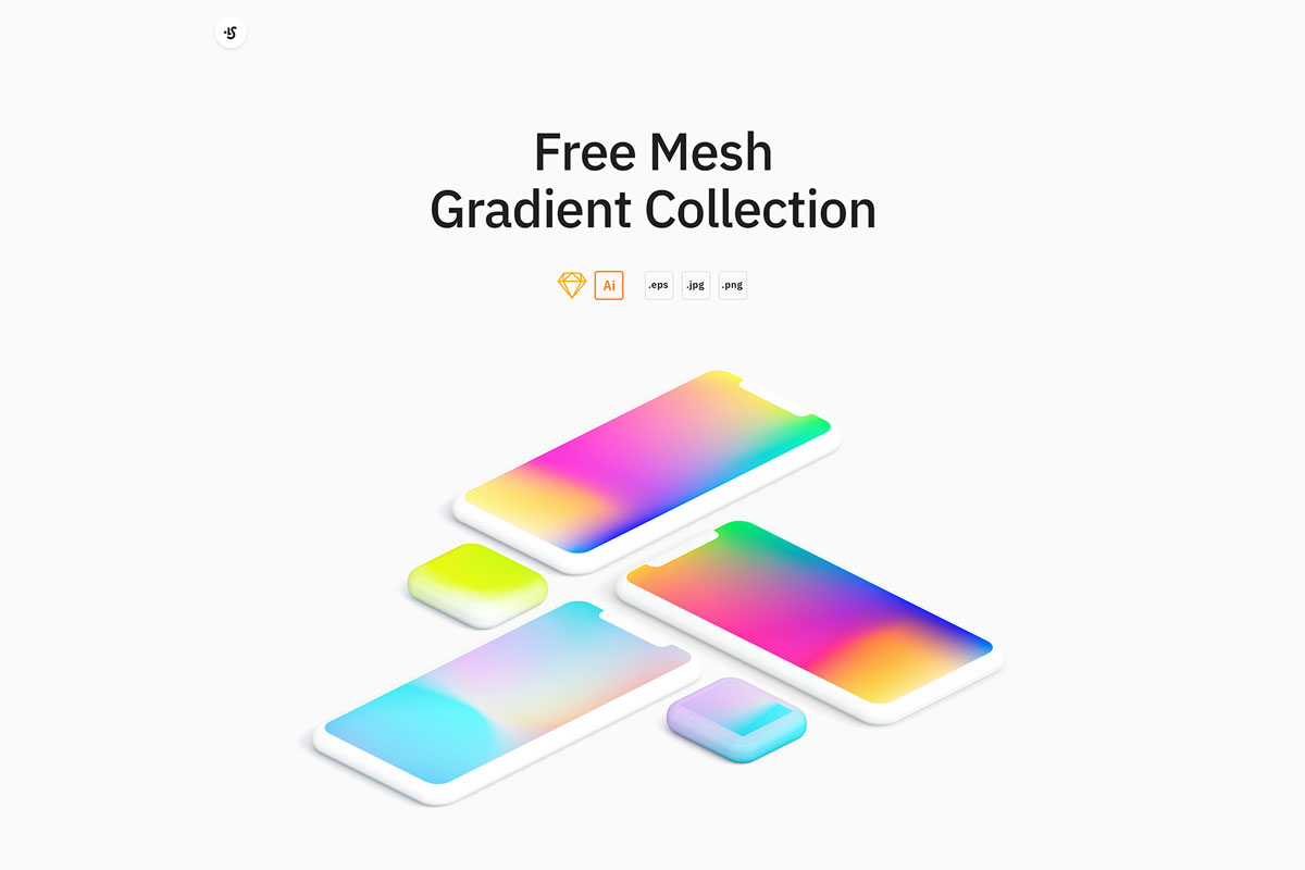 Free Mesh Gradients Collection