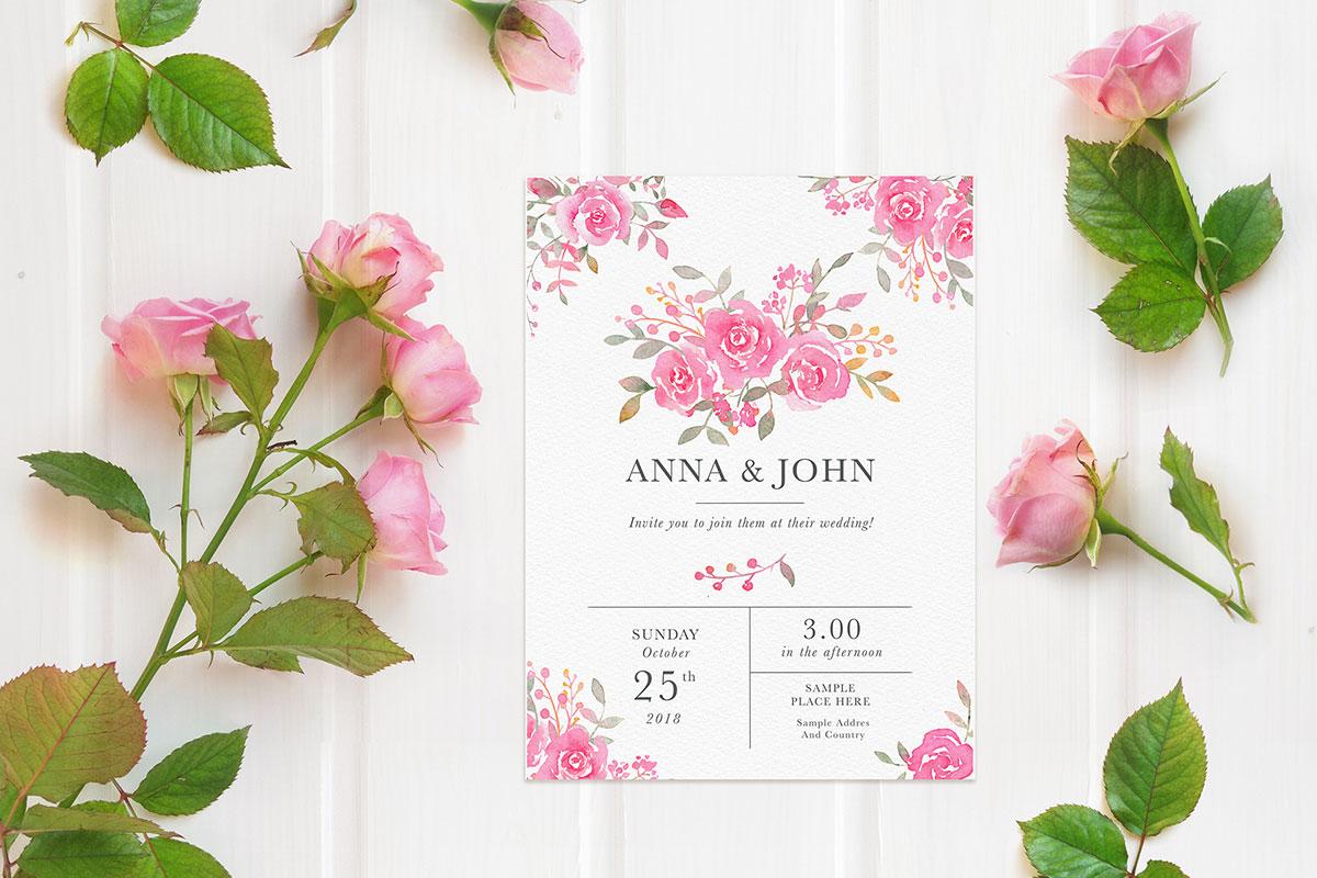 Free Wedding Invitation Card Mockup ~ Creativetacos