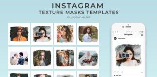 25 Textured Instagram Mask PSD Templates