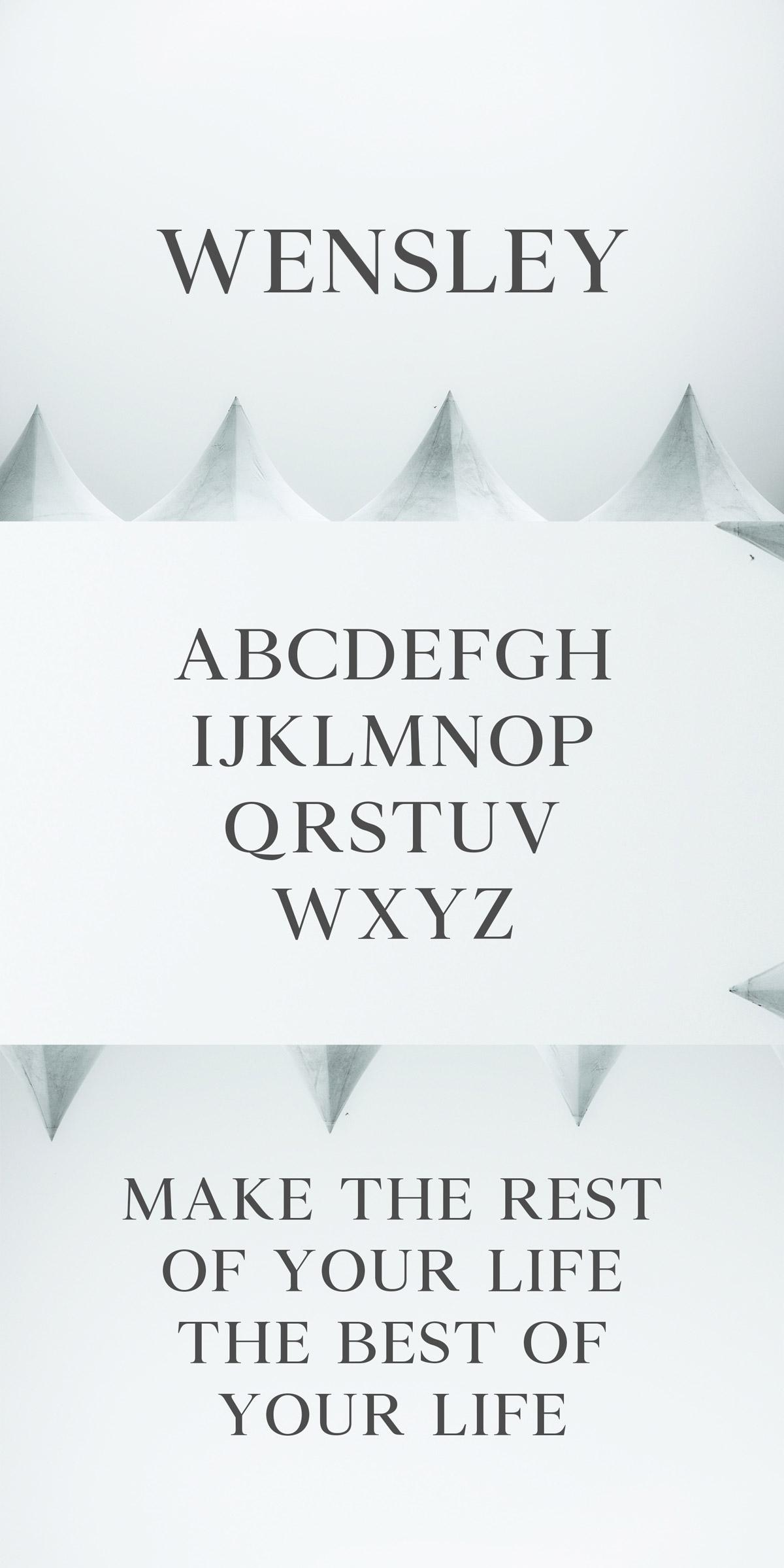 Free Wensley Modern Serif Font