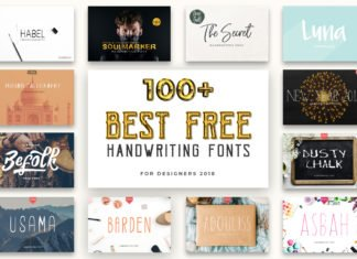 100+ Best Free Handwriting Fonts For Designers 2018