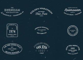 20 Free Vintage Badges Labels American Style
