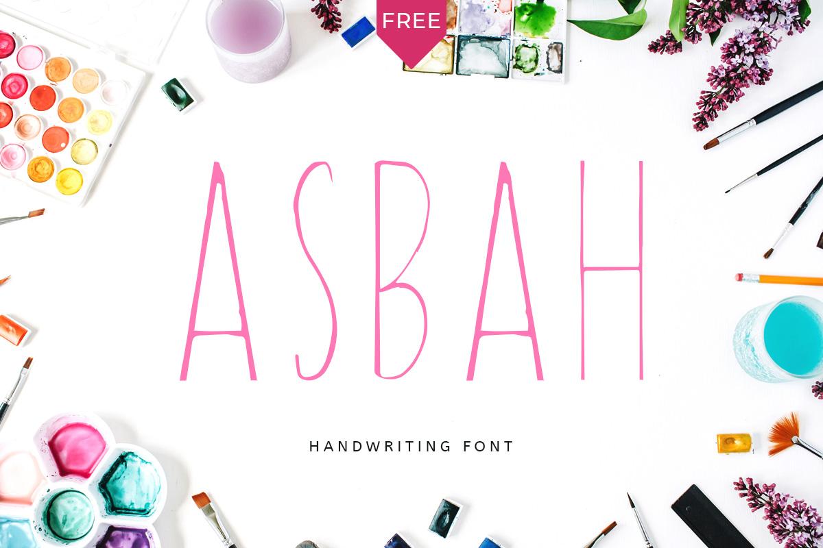 Free Asbah Handmade Font
