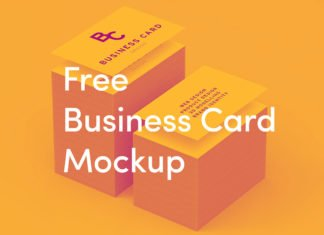 Free Business Card Stack Mockup