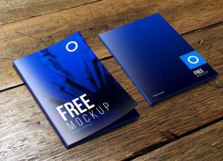 Free Folder Mockup PSD