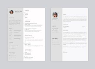Free Minimo Minimal Resume PSD Template