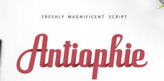 Free Antiophie Script Font