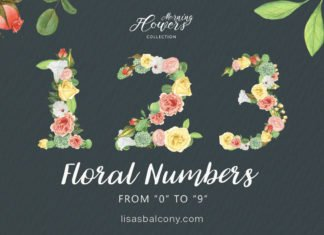 Free Floral Numbers Clipart