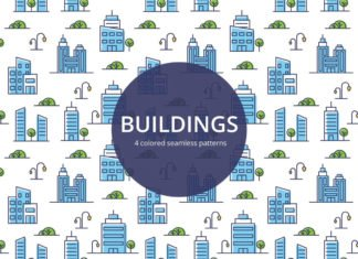 Free Buildings Vector Seamless Pattern