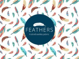 Free Feathers Vector Seamless Pattern