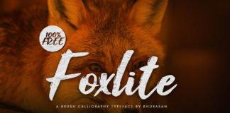 Free Foxlite Script Font