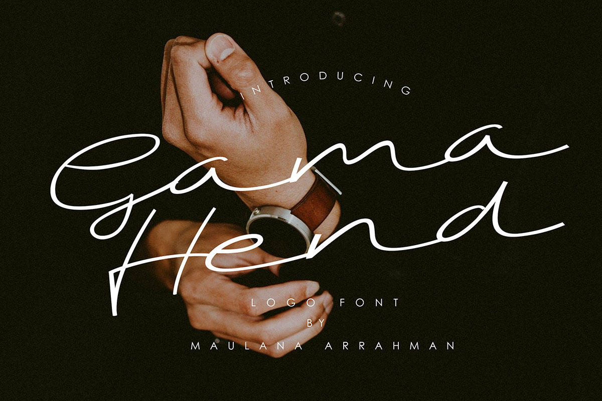 Free Gama Hend Logo Signature Font
