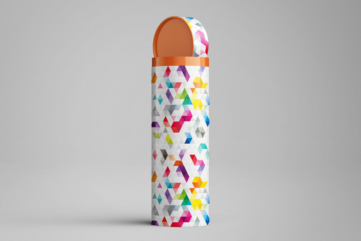 Free Long Tube Can Packaging Mockup