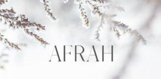 Free Afrah Serif Font