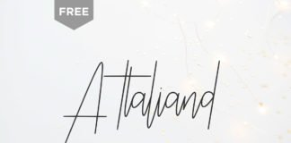 Free Attaliand Signature Font