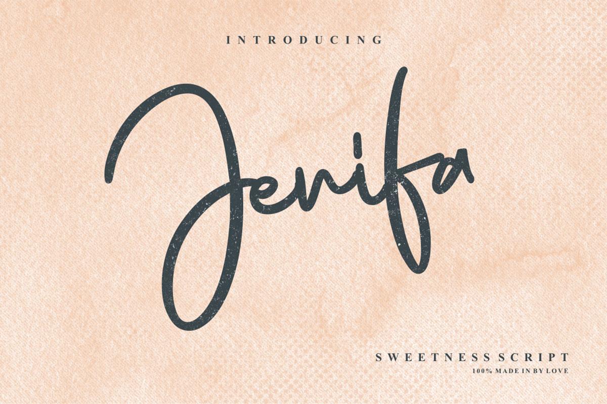 Free Jenifa Script Font