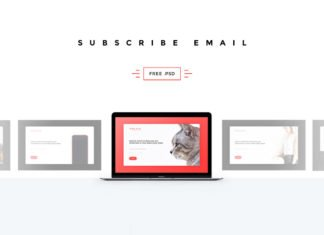Free Subscribe Email Page Template