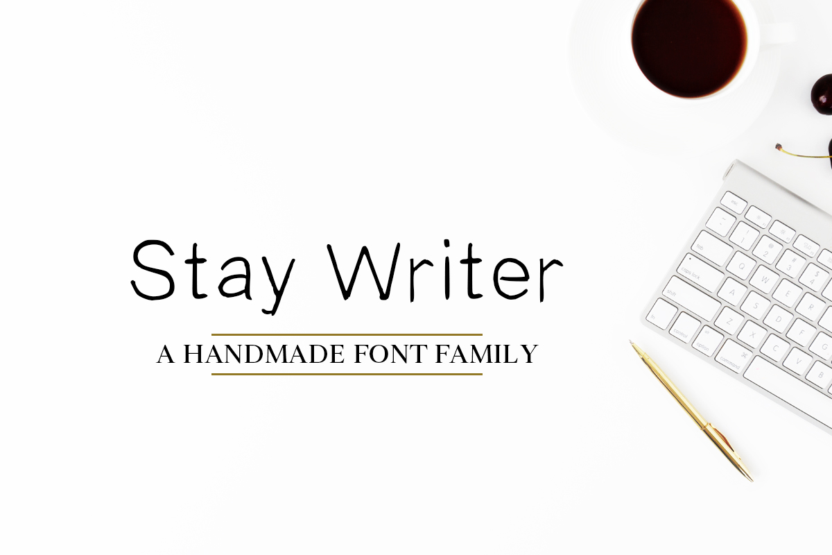Free Stay Writer Handmade 2 Fonts Family Pack