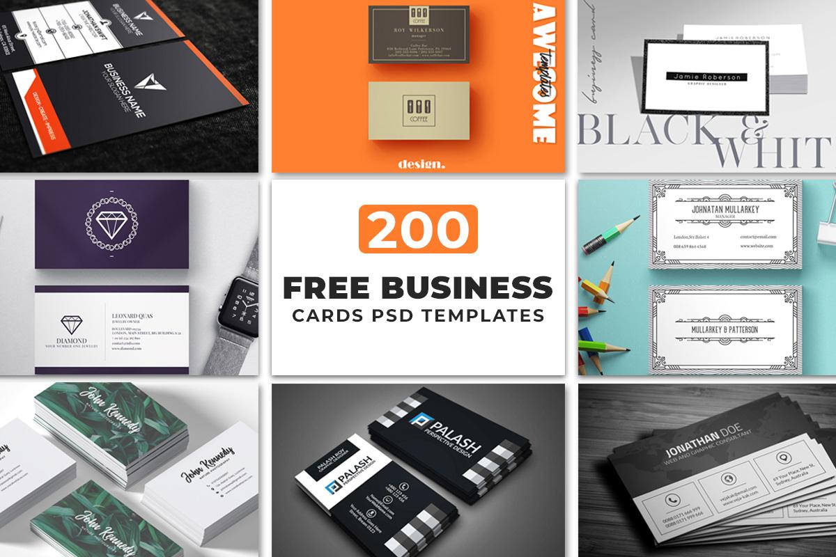 200 Free Business Cards PSD Templates ~ Creativetacos