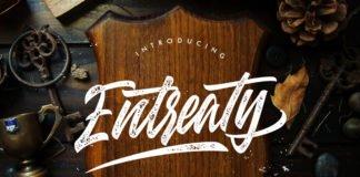 Free Entreaty Handlettering Script Font