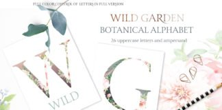 Free Botanical Alphabet