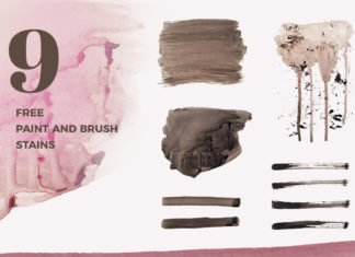 Free Paint Stains Brush