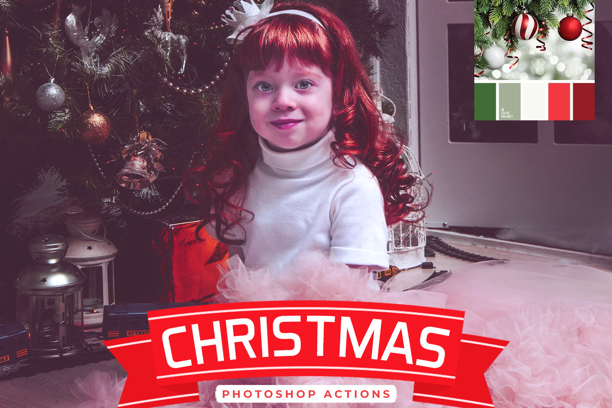 6 Free Christmas Photoshop Actions