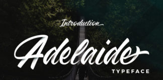 Free Adelaide Brush Script Font