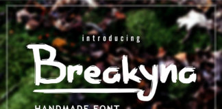 Free Breakyna Handmade Brush Font