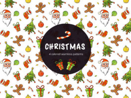 Free Christmas Vector Seamless Pattern
