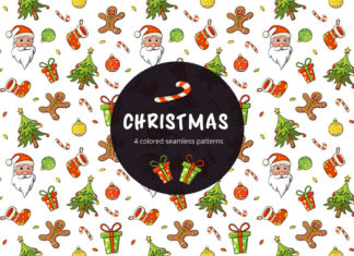 Free Christmas Vector Seamless Pattern