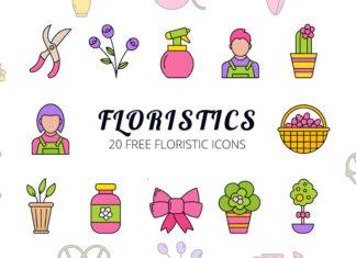 Free Floristic Vector Icon Set
