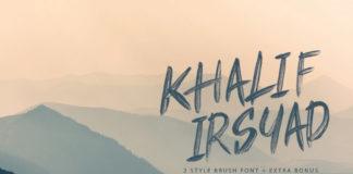 Free Khalif Irsyad Brush Script Font
