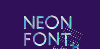 Free Neon Colorful Pattern Font