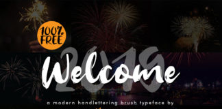 Free Welcome 2019 Brush Font