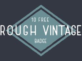 10 Free Rough Vintage Badge