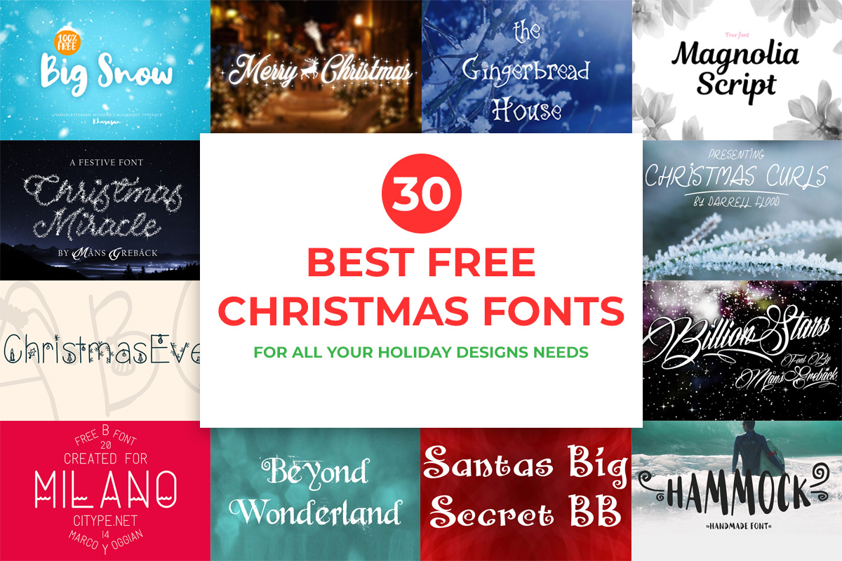30 Best Free Christmas Fonts for All Your Holiday Designs Needs