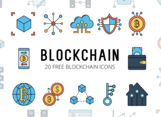 Free Blockchain Vector Icon Set