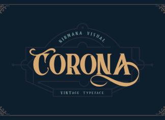 Free Corona Fancy Font