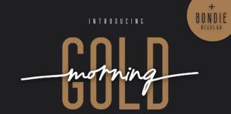 Free Morning Gold Handwritten Font