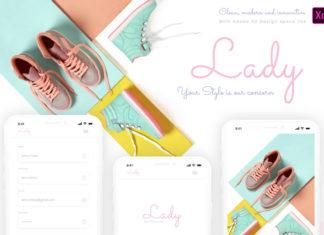 Free Lady Elegant App Design Template