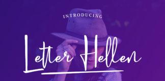 Free Letter Hellen Signature Dry Brush Font