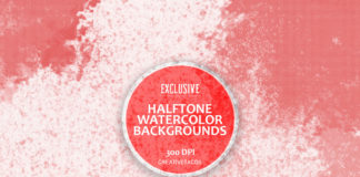 Halftone Watercolor Backgrounds Cover