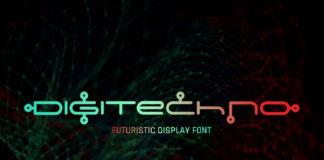 Free Digitechno Display Font
