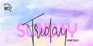 Free Friday Sunday Font Duo